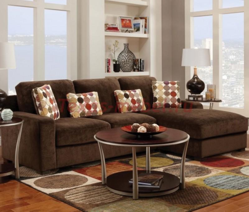Коричневый диван в интерьере - - Мебель в интерьере